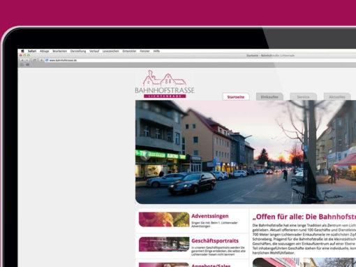 Webseite Händlerinititave Bahnhofstrasse
