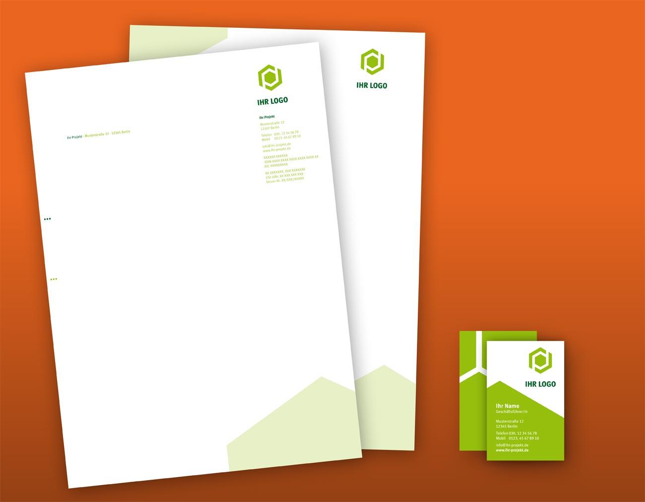 Geschäftsausstattung, Briefbogen & Visitenkarten